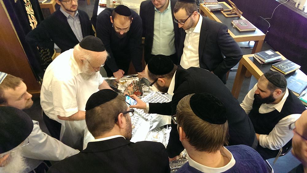 Besuch von Rabbiner Levinger