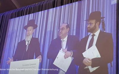 Auszeichnung für Rabbiner Moshe Baumel